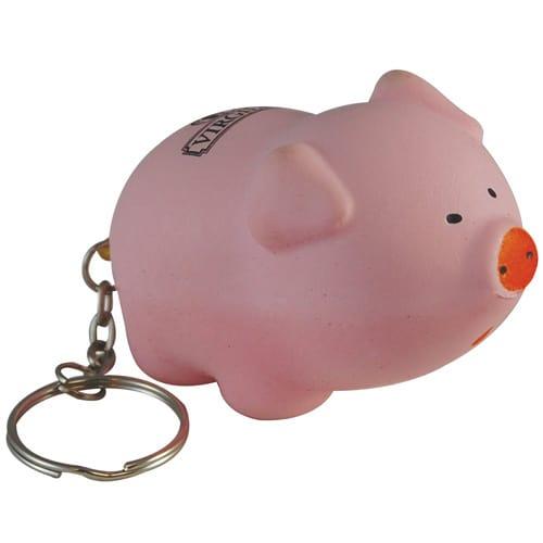 Stress Pig Keyring