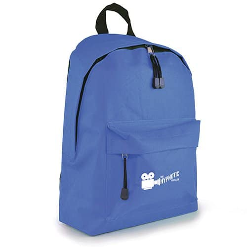 Custom branded Royton Backpacks printed corporate merchandise