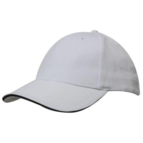 Promotional Sandwich Trim Brushed Heavy Cotton Cap for merchandise
