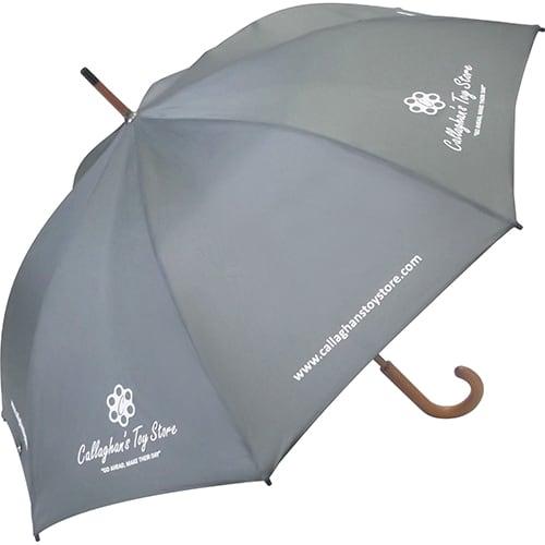 Promotional Spectrum City Club Umbrella with company logos