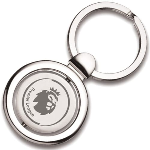Spinning Round Sapporo Keyrings in Silver