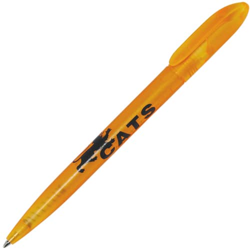 Promotional Twisty Frost Ballpens with company logos