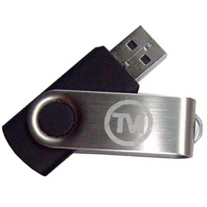 Promotional UK Express Twist USB Flashdrive for offices