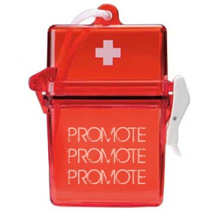 First Aid Storage Kit in Red