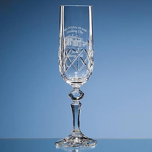 Flamenco Lead Crystal Champagne Flute