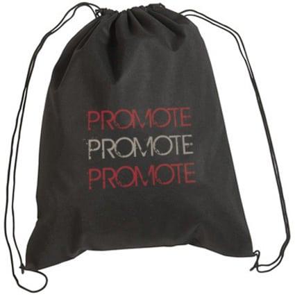 Printed Recyclable Rainham Drawstring Bag with company branding