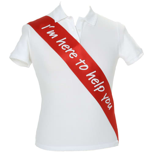 Promotional satin sashes for printing with campaign messages