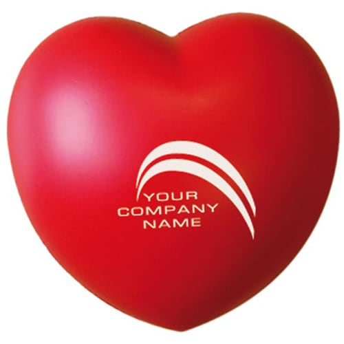 Promotional Stress Love Heart for office giveaways