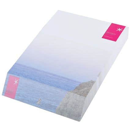 Promotional Wedge Block Pad A6 for company merchandise