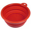 Collapsible Dog Bowls in Red