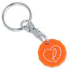 New Shape Recycled Plastic Trolley Coin in Orange