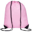 Full Colour Drawstring Backpacks in Baby Pink