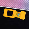 Full Colour Webcam Covers in Yellow