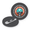Recycled Plastic Circle Badges in Black