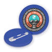 Recycled Plastic Circle Badges in Blue