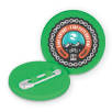 Recycled Plastic Circle Badges in Green