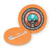 Recycled Plastic Circle Badges in Orange