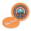 Recycled Plastic Circle Badges in Orange
