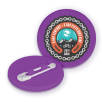 Recycled Plastic Circle Badges in Purple