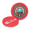 Recycled Plastic Circle Badges in Red