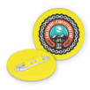 Recycled Plastic Circle Badges in Yellow