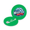 Recycled Plastic Mini Circle Badges in Green