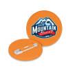 Recycled Plastic Mini Circle Badges in Orange