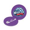 Recycled Plastic Mini Circle Badges in Purple