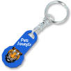 12 Sided Trolley Coin Stick Keyrings in Blue