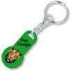12 Sided Trolley Coin Stick Keyrings in Green