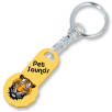 12 Sided Trolley Coin Stick Keyrings in Yellow