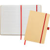 A5 Recycled Paper Notebooks in Natural/Red