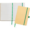 A5 Recycled Paper Notebooks in Natural/Green