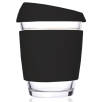 Reusable Glass Coffee Cups in Clear/Black
