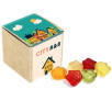 Custom Printed Jelly Sweets in Eco Kraft Cubes