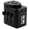 Explorer USB Travel Adaptor Plugs in Black
