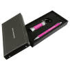 Soft Touch Stylus Pen & Torch Gift Sets in Pink