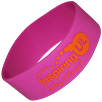 Corporate Branded Wristbands Embossed with Your Company Logo with a Colour Overlay