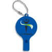 Recycled Plastic Whistle Keychains in Blue