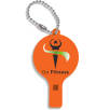 Recycled Plastic Whistle Keychains in Orange
