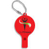 Recycled Plastic Whistle Keychains in Red