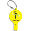 Recycled Plastic Whistle Keychains in Yellow