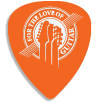 Recycled Plastic Guitar Plectrums in Orange