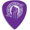 Recycled Plastic Guitar Plectrums in Purple