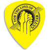 Recycled Plastic Guitar Plectrums in Yellow
