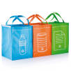 Recycle Waste Bag Sets in Green/Blue/Orange