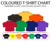 Scottie dog with several different coloured T-shirts
