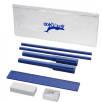 Mindy 8 Piece Pencil Case Set in Blue