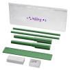 Mindy 8 Piece Pencil Case Set in Green