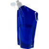 600ml Carabiner Fold Away Bottles in Transparent Blue
